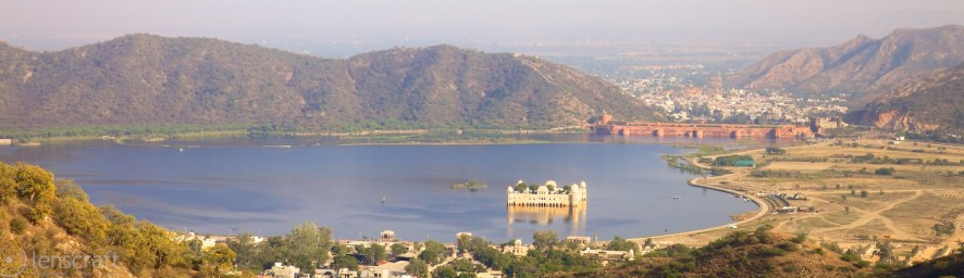 jal mahal from amer fort / jaipur, india
