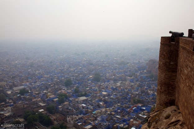 looking down onto the blue city / jodhpur, india