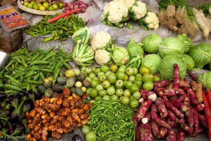 fresh veg / maha mandir temple, india