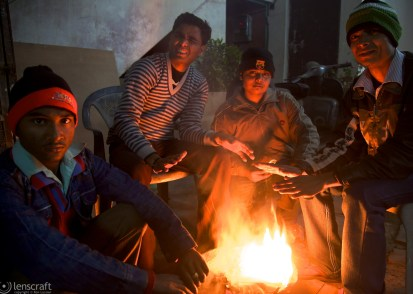 by the campfire / agra, india