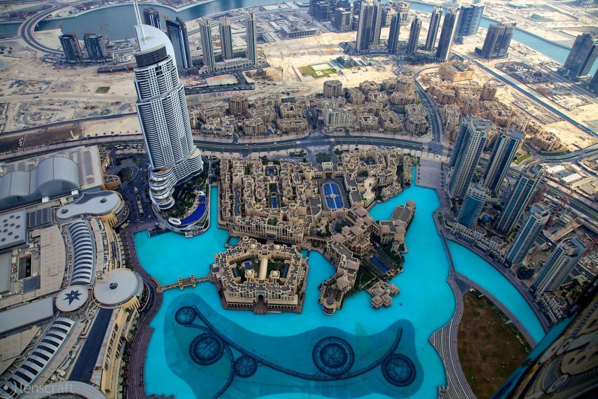 view from the top / burj khalifa, dubai, uae