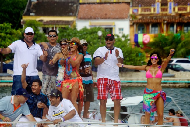 party on the ledo deck / cartagena, colombia