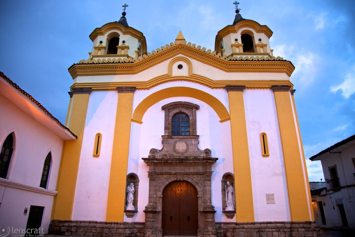 church at dusk / popayán, colombia