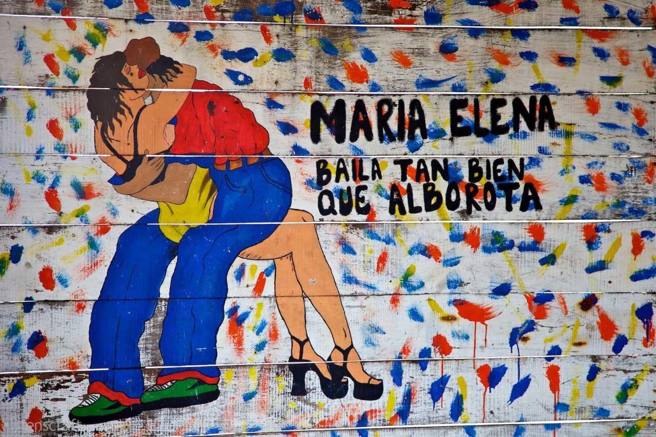 maria elena is a great dancer / santa cruz del islote, colombia