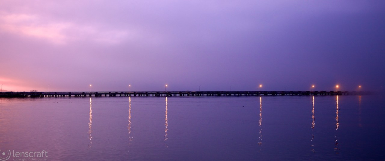 dawn over the pier / richmond, ca