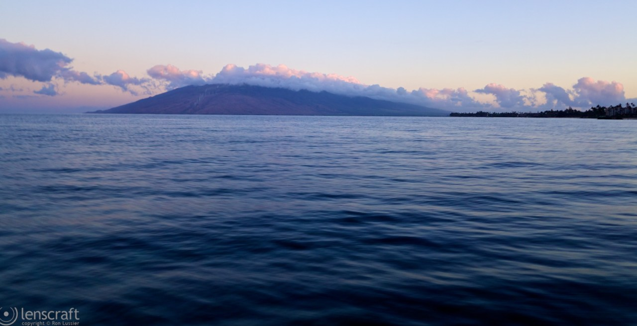 sunrise over the west maui mountains / maui