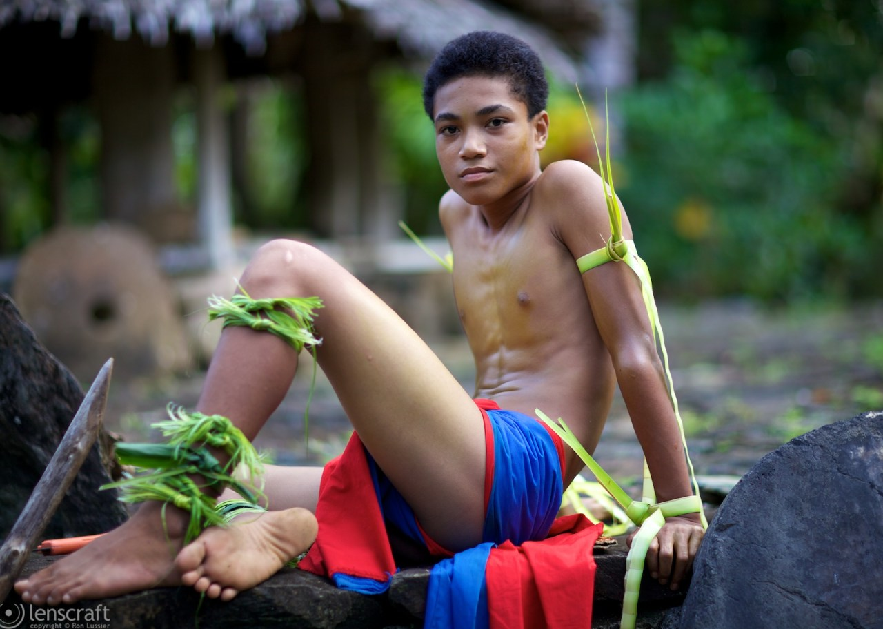 warrior boy / yap, micronesia