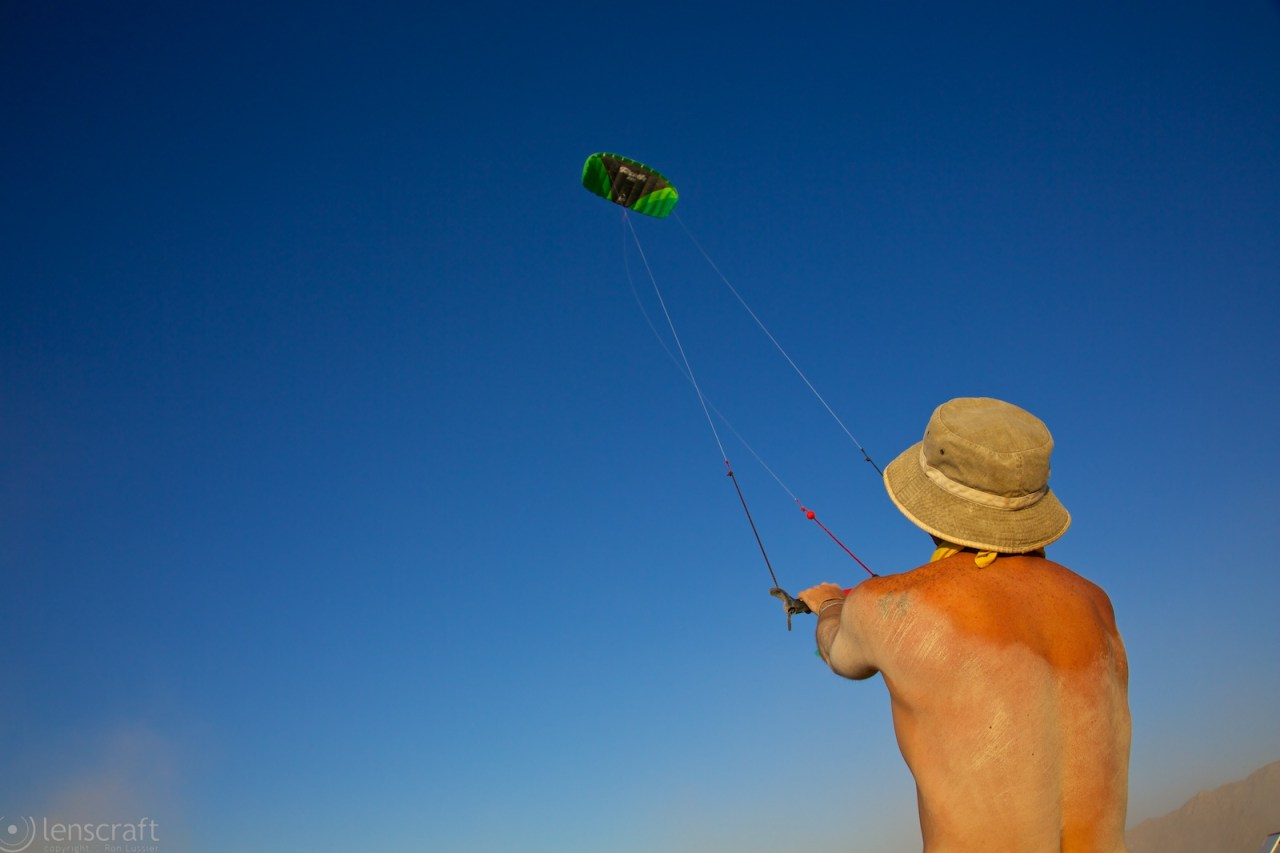 kite flying at the airport / black rock city, nevada