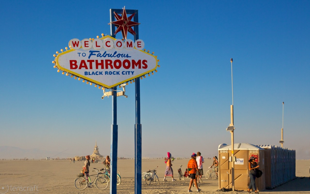 fabulous bathrooms / black rock city, nevadas