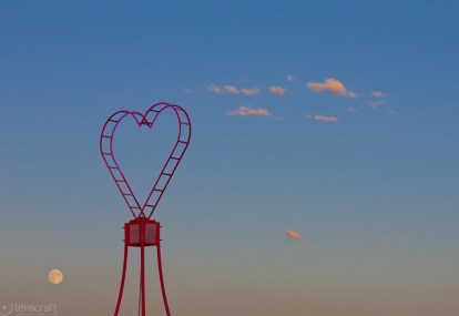 pink heart camp / black rock city, nevada