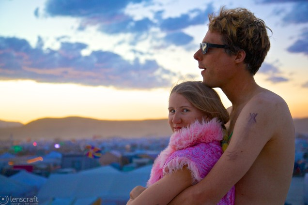 day's end on the playa / black rock city, nevada