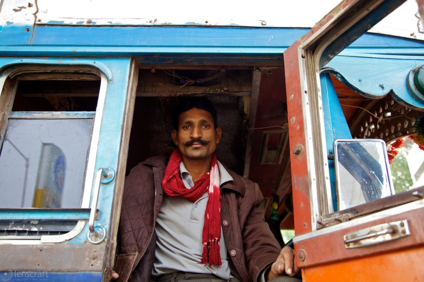 the well-traveled trucker / rajasthan, india