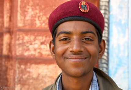 the young policeman / pokaran, india
