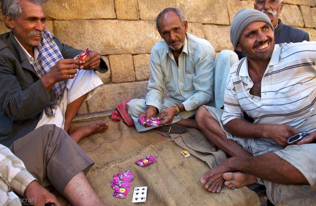 the card players, beneath the walls / jaisalmer, india