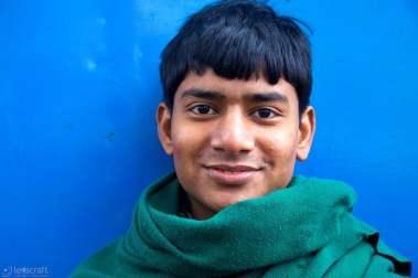 the green shawl / agra, india