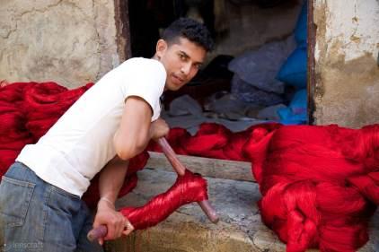 dying yarn / fes, morocco