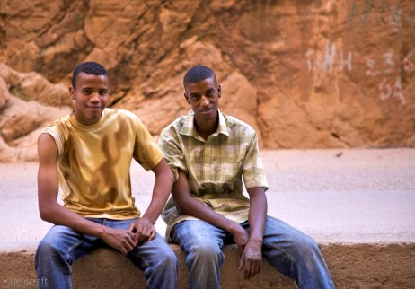 two friends / todra gorge, morocco