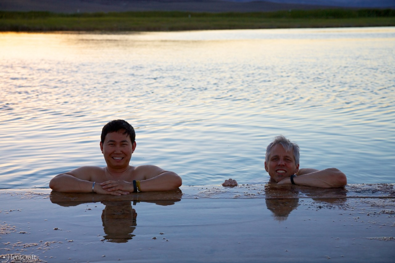 bobby and dan at the dock / fly ranch, nevada
