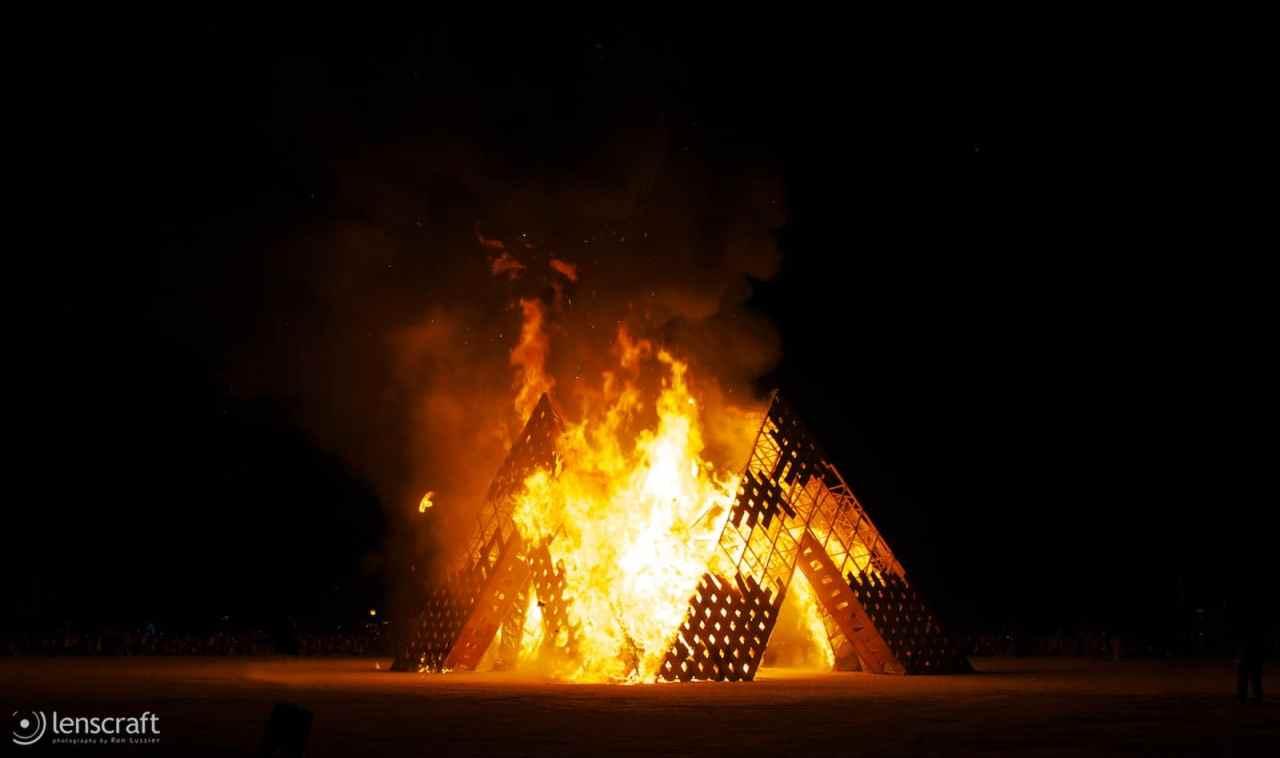 cradle's conflagration / black rock city, nevada