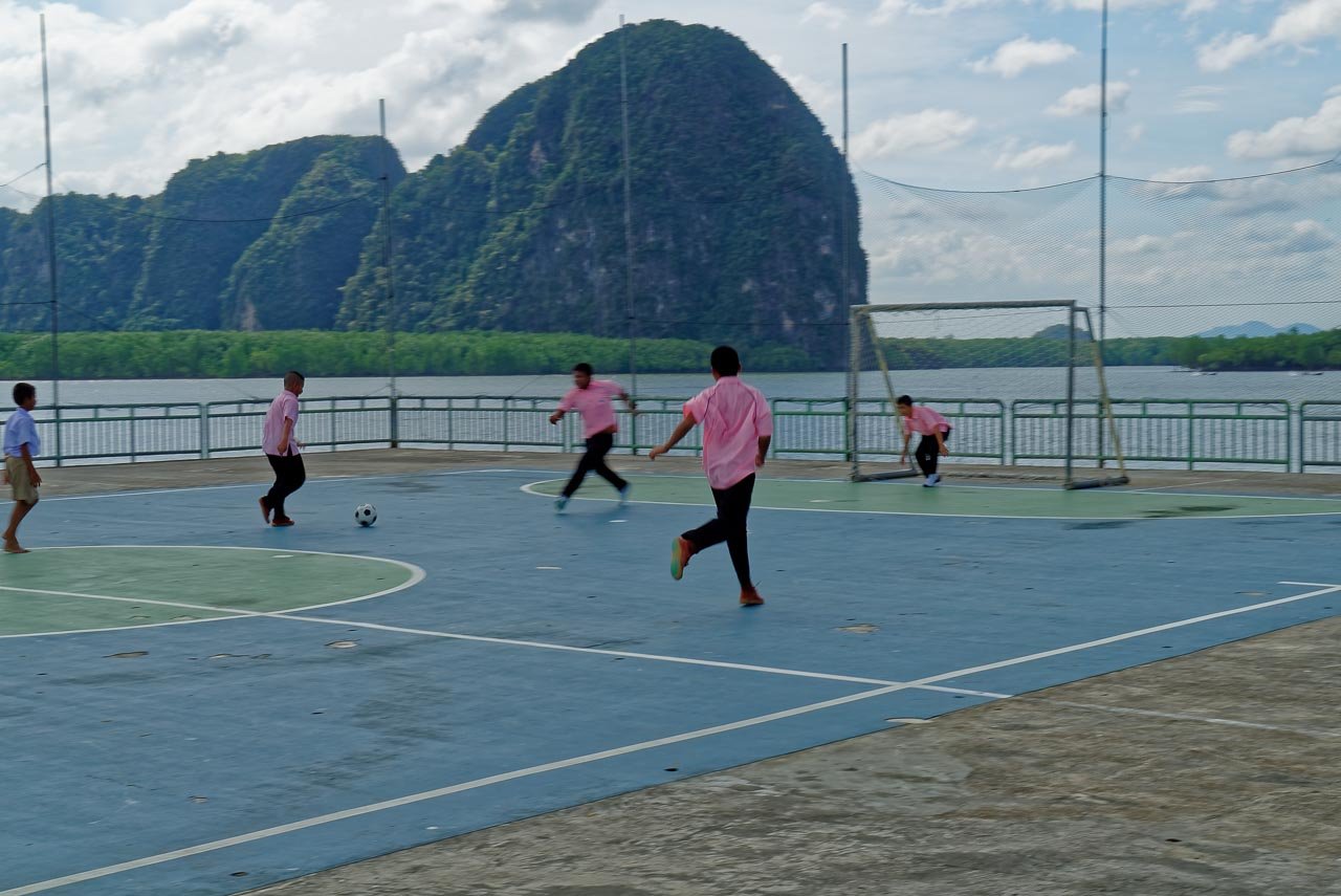 the soccer game / ko panyi, thailand