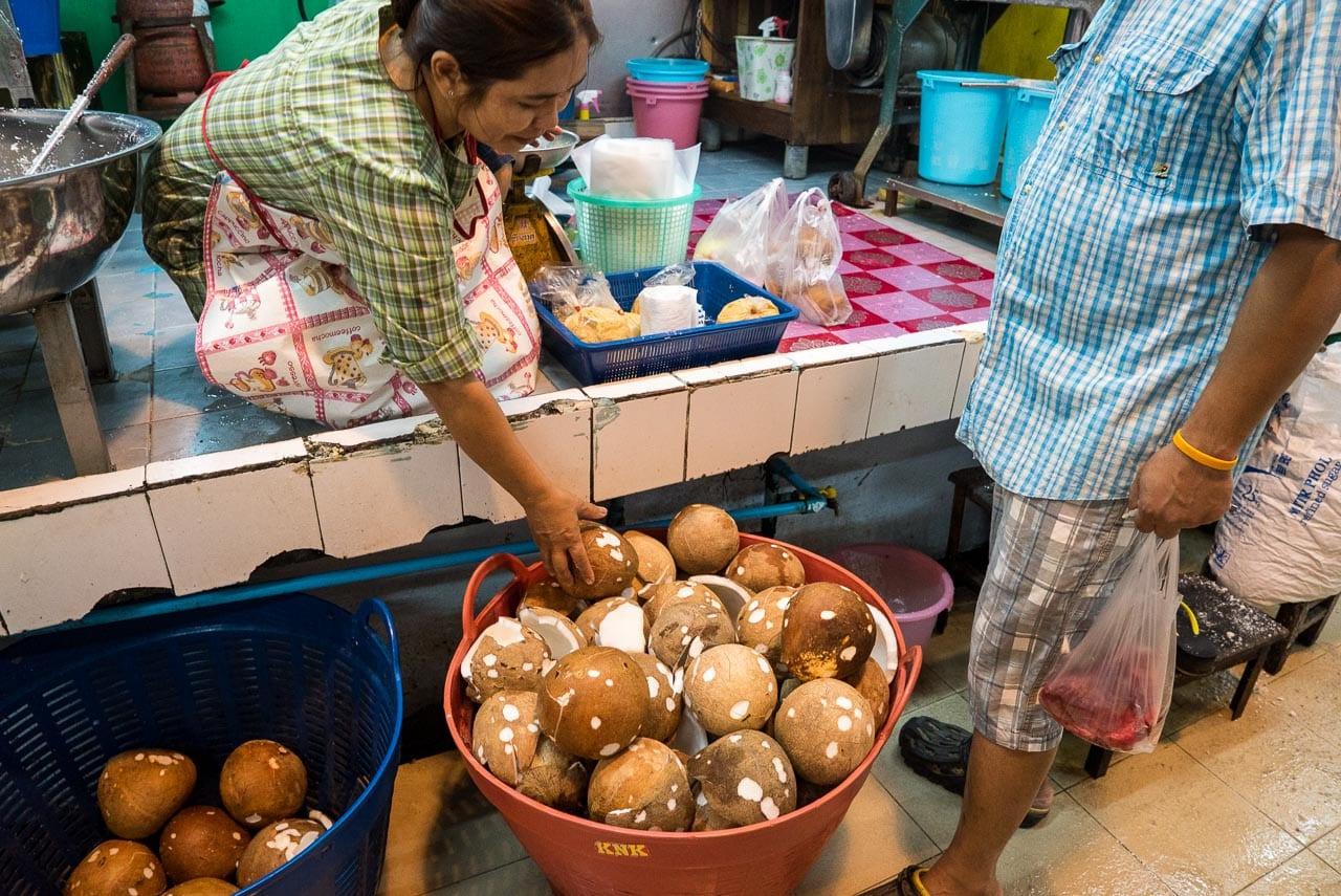 coconut vendor / hua hin, thailand