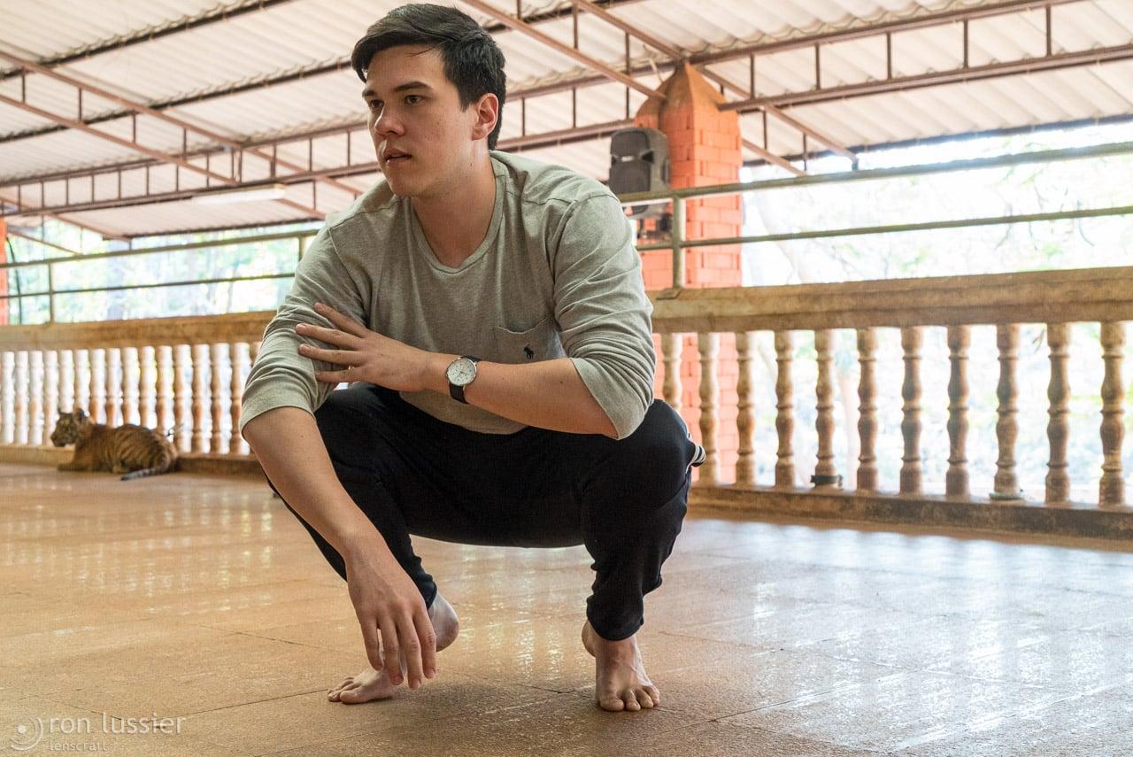 man cub / wat pha luang ta bua, kanchanaburi, thailand