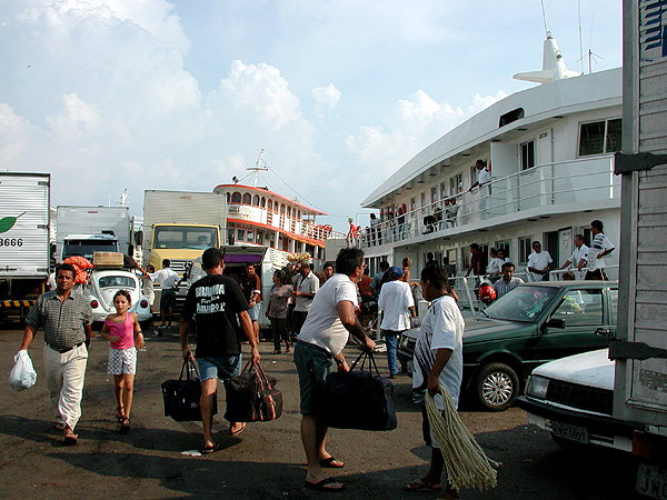 The main dock in Manaus, with our ship to the right