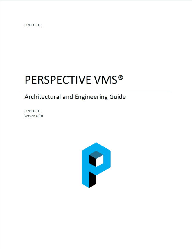 Perspective VMS® A&E Specification - v3.x