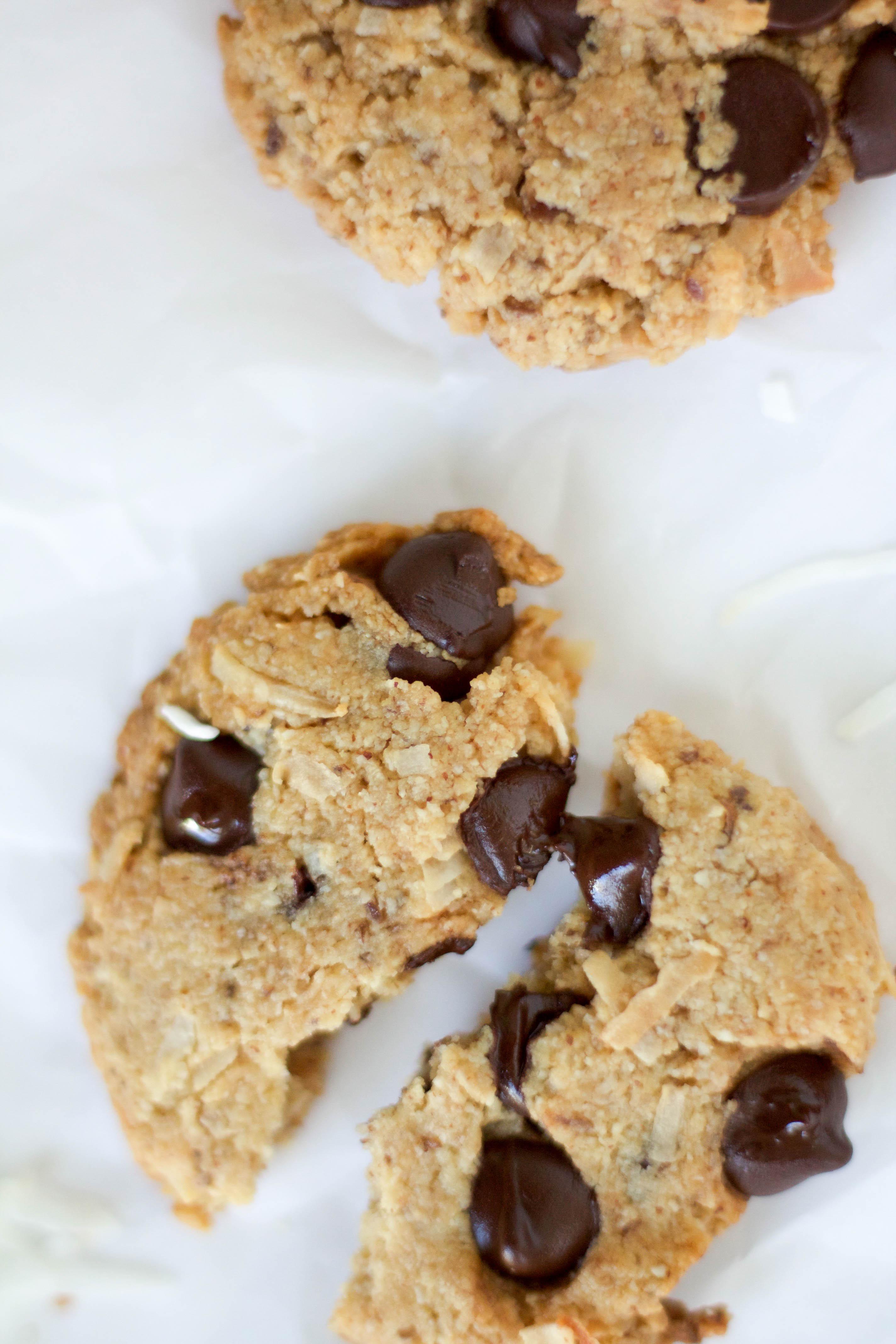 vegan gluten-free coconut cookies