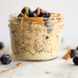 vanilla maca overnight oats