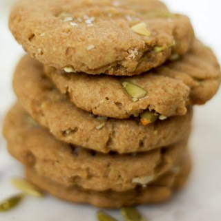 7-ingredient tahini pumpkin cookie stack