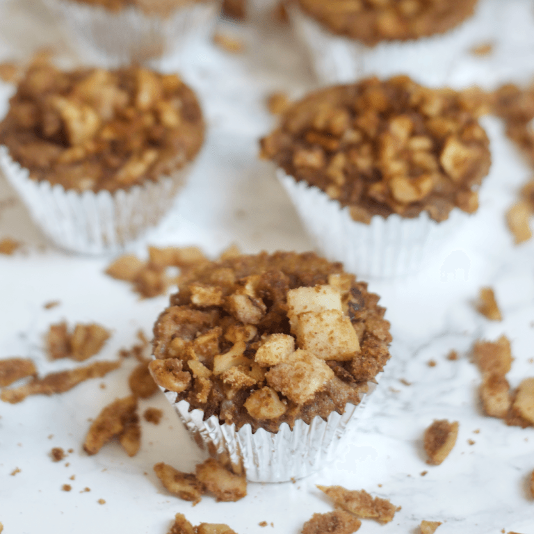 paleo apple crisp muffins; road trip eating