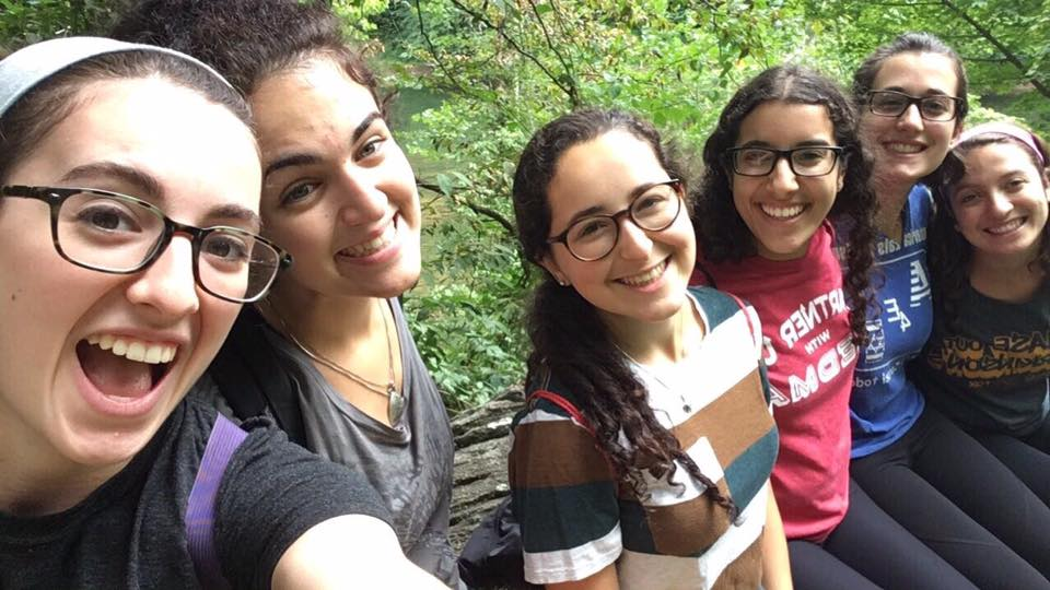 hiking Billy Goat Trail with friends
