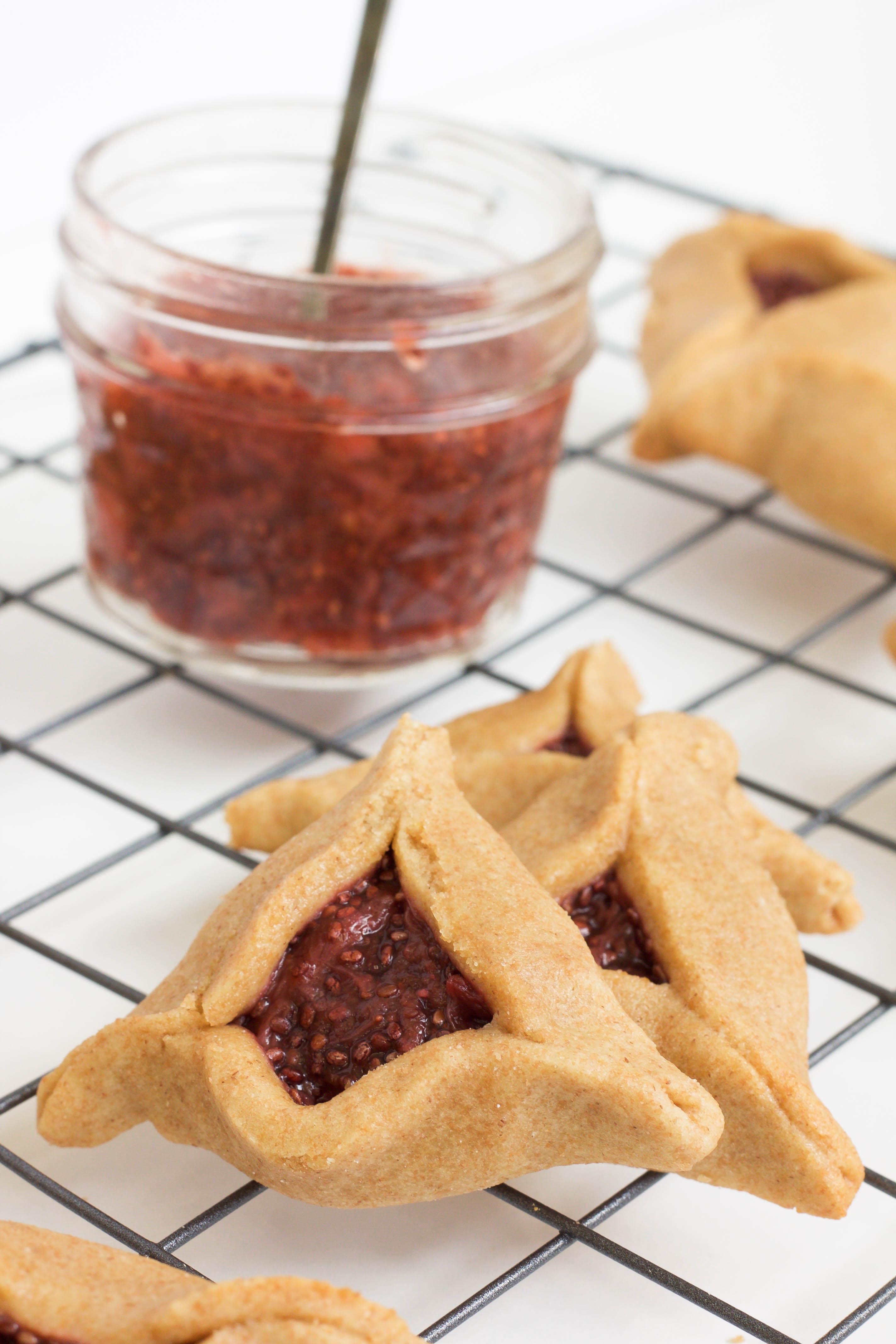 hamantaschen with strawberry balsamic jam