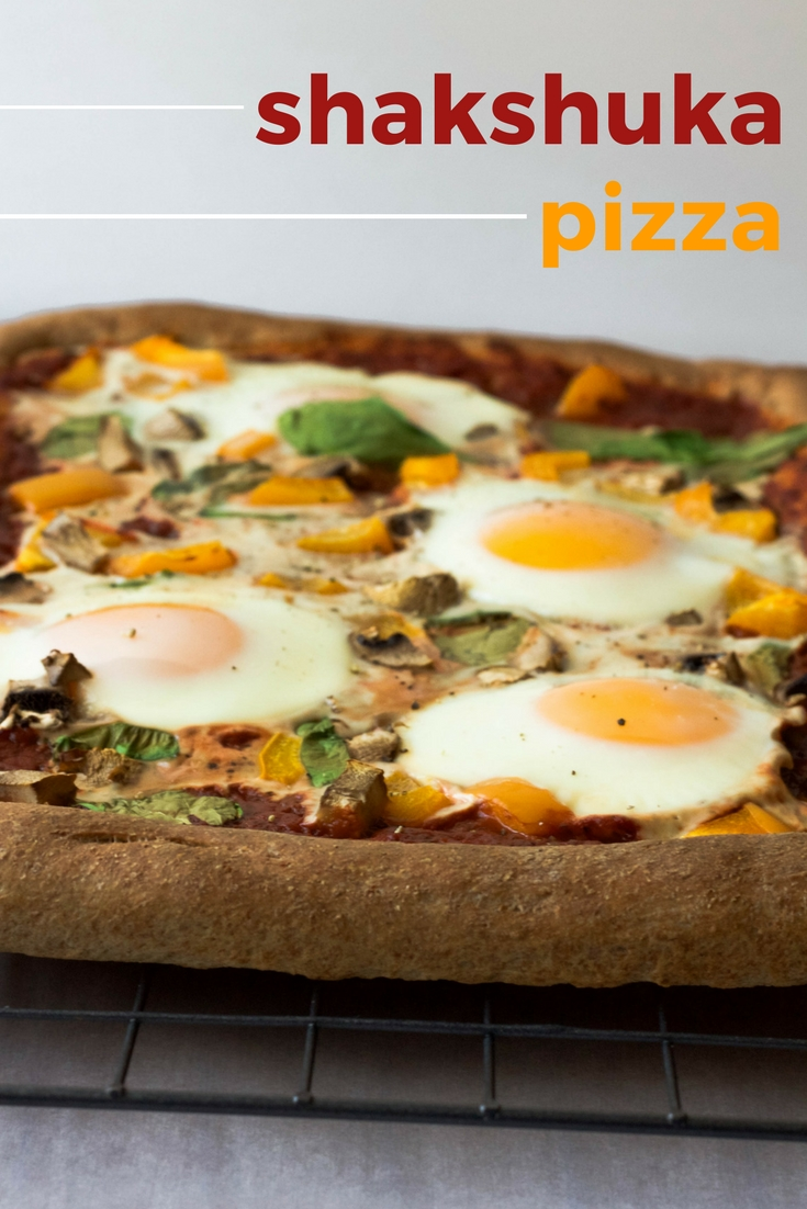 whole wheat shakshuka pizza