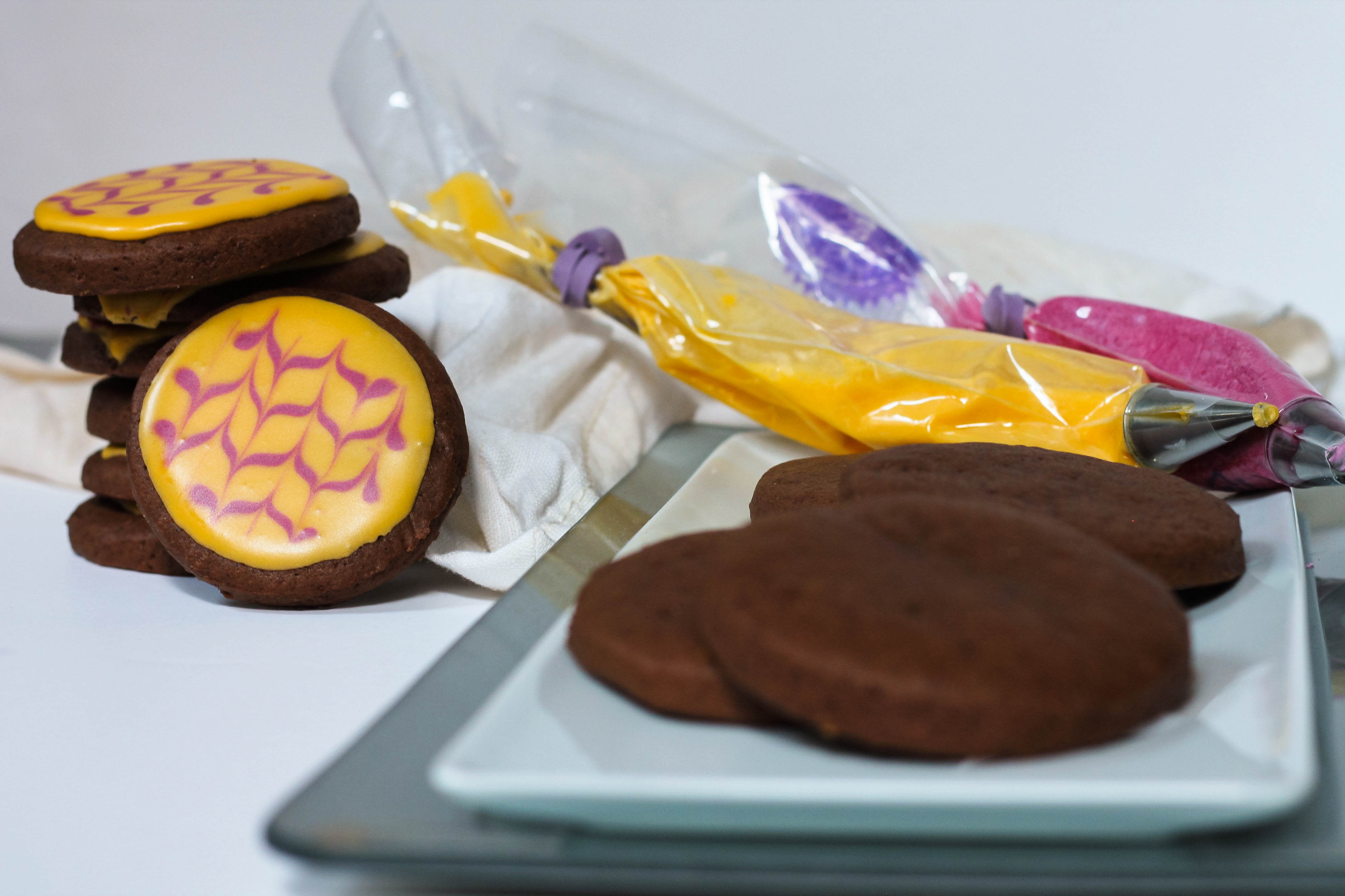 chocolate lemon cut-out cookies