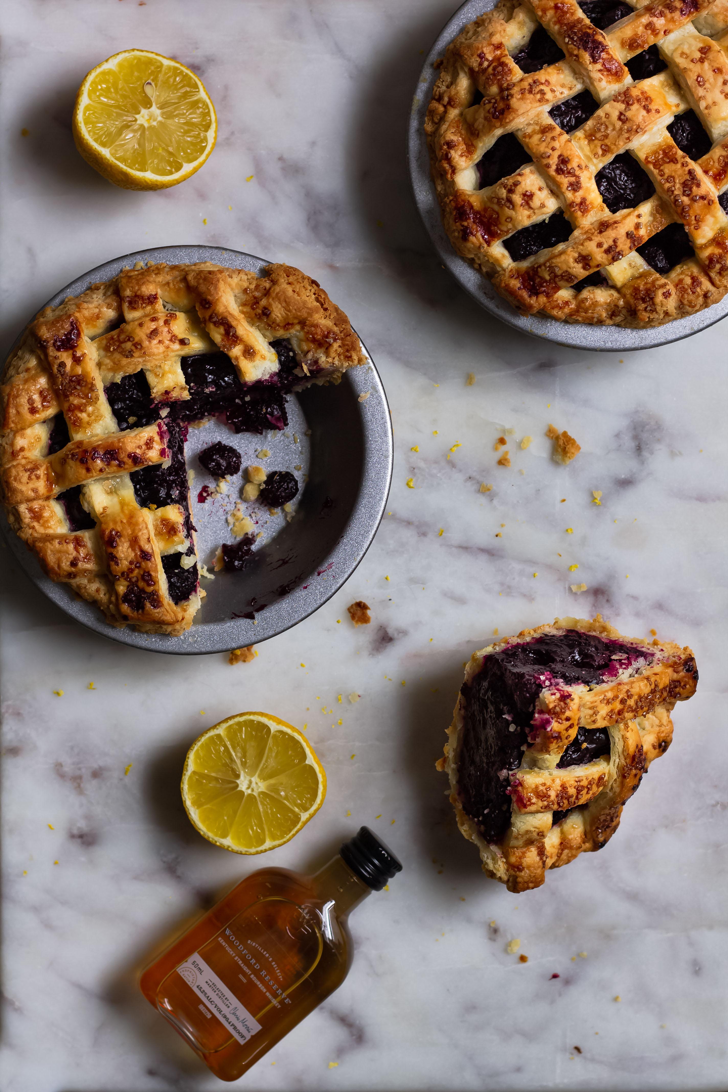 bourbon blueberry pie