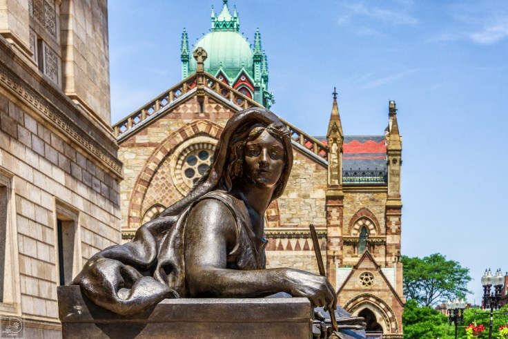 Boston Public library and Old South Church