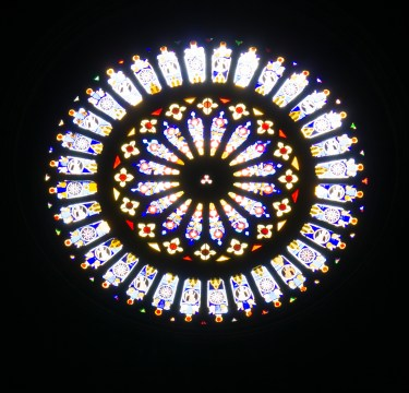 Como cathedral interior rose window-1