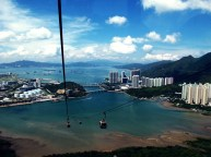 the best ride with a cable car ever! Lantau, on the way to the Tian Tan Buddha