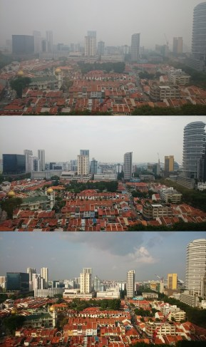 Comparing different levels of haze