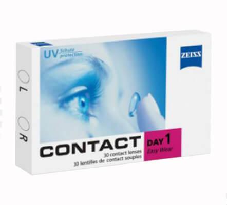 contact day one, zeiss günlük lens
