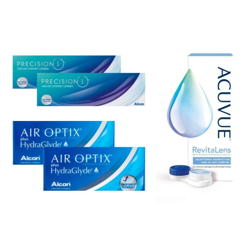 air optix plus hydraglyde + precision 1