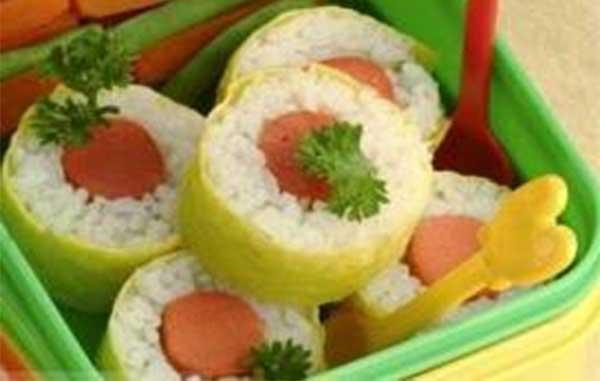 Resep Dadar Gulung Nasi dan Sosis
