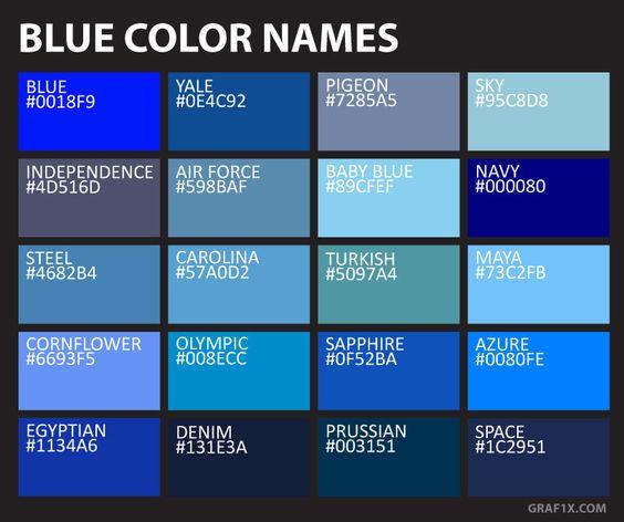 macam macam warna biru dan kode warna biru