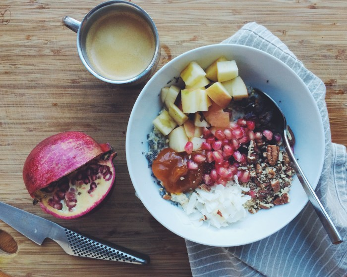 Winter Porridge w/Pomegranate Seeds