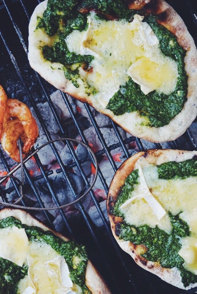 Dandelion Pesto w/Grilled Flatbread