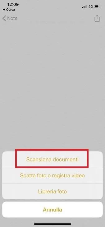 scansionare documenti con iphone
