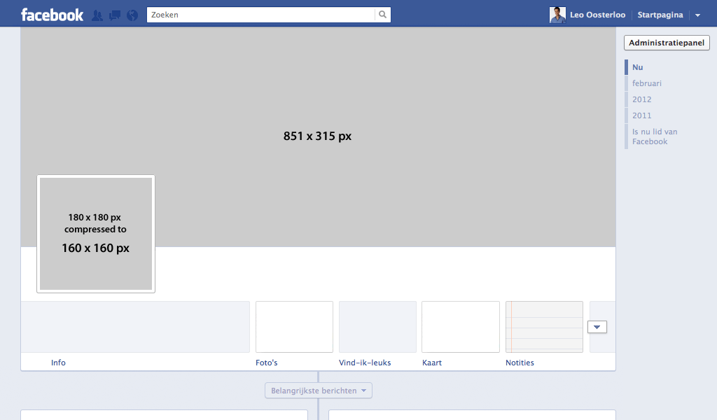 Facebook Banner Profile Layout