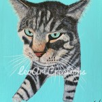 Pet Portraits Chewy the Cat by Leo Art Creations